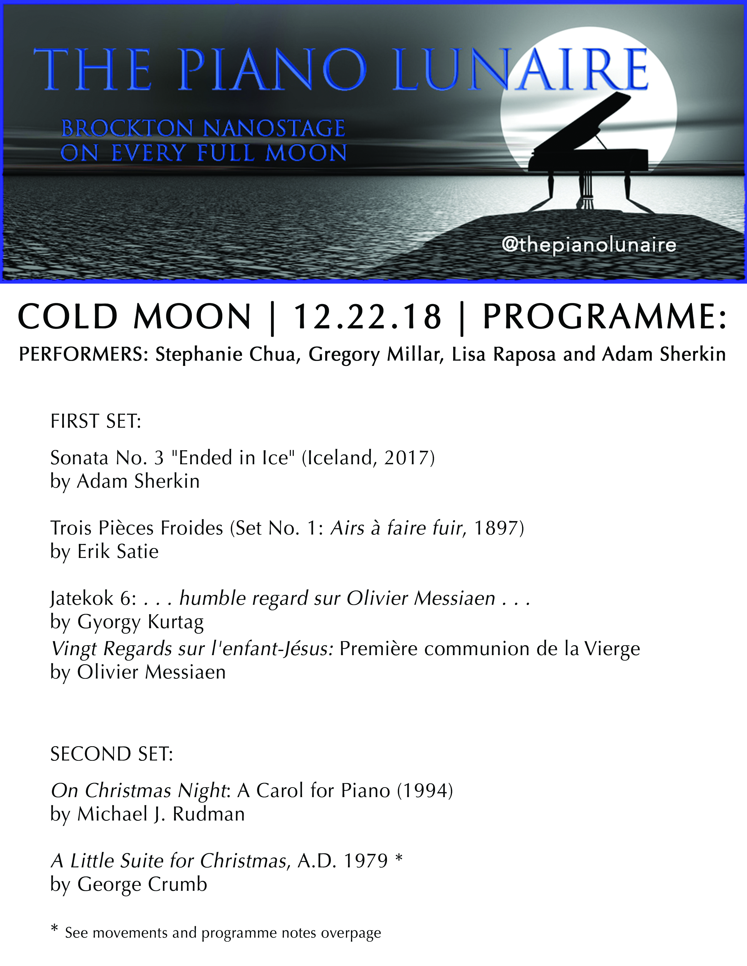 Piano Lunaire Cold Moon Programme COL. Page 1